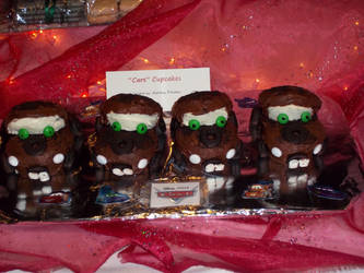 Tow Mater Cupcakes by DarkMichiko