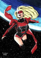 Red Lantern Supergirl by PascalCrimson