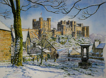 Bamburgh in the snow by jeffsmith1955