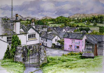 View over Hawkshead, Cumbria by jeffsmith1955