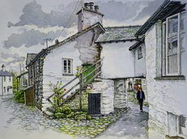 Cottages, Hawkshead, Cumbria by jeffsmith1955