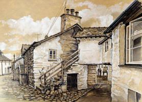 Wordsworth Street, Hawkshead, Cumbria by jeffsmith1955