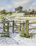 Penshaw Monument, Sunderland, in the snow by jeffsmith1955
