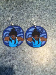 Korra Earrings by sailor-kitty19