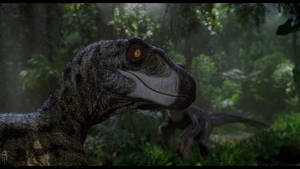 Feathered raptors jurassic park style by JELSIN