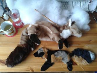 WIP Cross fox and Esben by Avanii
