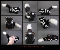 Plushie Commission: Spotted Skunk by Avanii