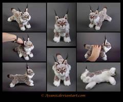 SOLD Plushie: Ambra the Lynx by Avanii