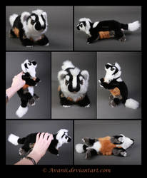 Plushie Commission: Evan the American Badger by Avanii