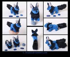 SOLD Beanie: Lapis Lazuli Fox by Avanii