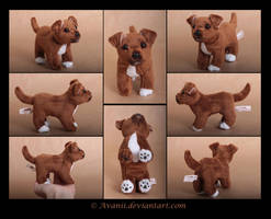 Plushie Commission: Dinky the Dog Beanie by Avanii
