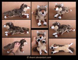Plushie Commission: Italian Wolf by Avanii