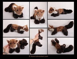 Plushie Commission: Rion the Beech Marten by Avanii