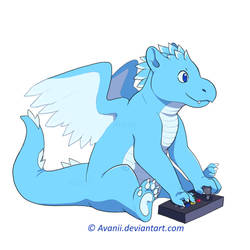 Commission: Fight Stick Dragon by Avanii