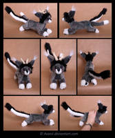 Plushie Commission: Treble the Felidraegon by Avanii