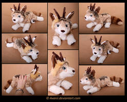 Plushie Commission: Ashton the Dog by Avanii