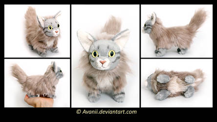 Plushie Commission: Indy the Cat by Avanii