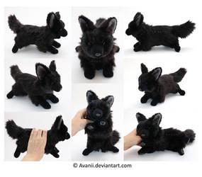 Plushie Commission: Renzo the Dog by Avanii