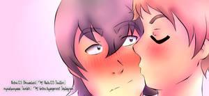 [Klance] A kiss by Belen125