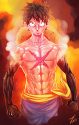 Mugiwara No Luffy by RampanToxicity