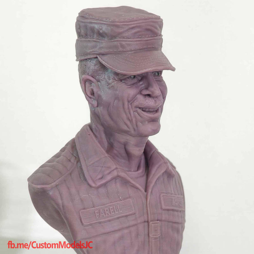 Bill Paxton tribute sculpt by amokk20