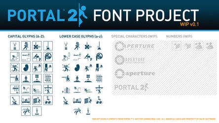 Portal 2 Font Project by ChubbsMcBeef