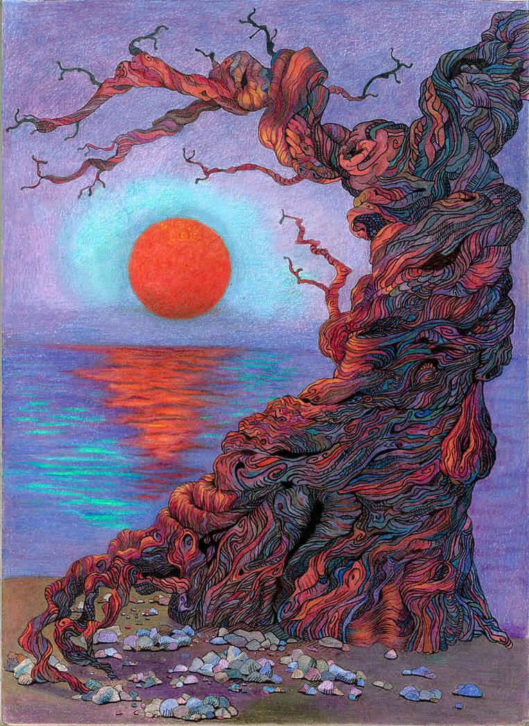 Tree and sunset by DanielaIvanova