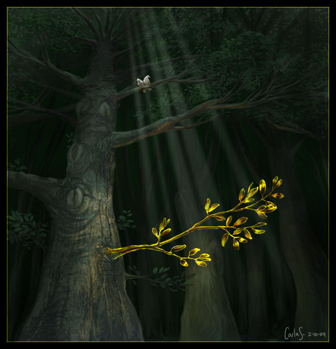 The Mythical Golden Bough by redwattlebird