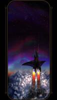 Last flight of The Silhouette by redwattlebird
