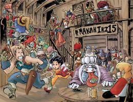 Final Fantasy IX Cast by maecaart