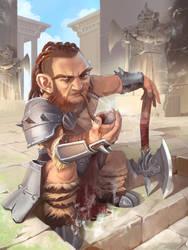 Gnome Barbarian by wyncg