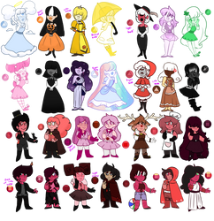 Sapphire n Ruby Adopts OPEN! by Russet-Adopts
