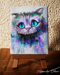 cheshire cat - mini canvas by Deboir