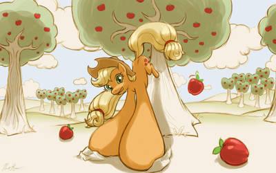 Apple Buckin' by cow41087