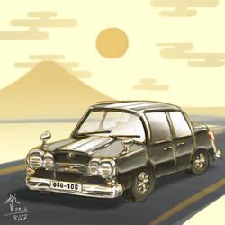 Vintage Car Doodle by cow41087
