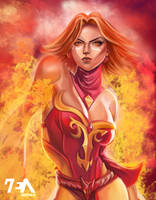Lina Dota 2 by RAEzin