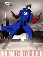 Captain America Pulp Style by jaypiscopo