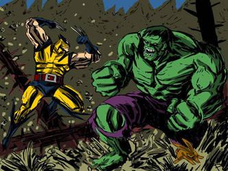 Wolverine vs. Hulk2 by jaypiscopo