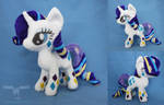 Rainbow Power Rarity plush by dollphinwing