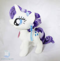 Crystal Empire Rarity Plushie by dollphinwing