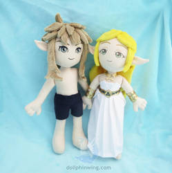 Zelda and Link Breath of the Wild Plush by dollphinwing