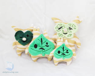 Korok Plushies (Pattern Available) by dollphinwing