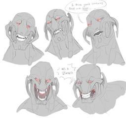 Ultron Teeth Doodles by TacosaurusRex