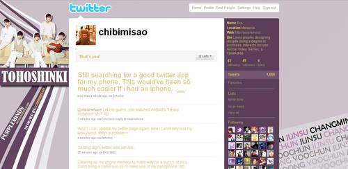 Twitter Layout - Purple Line by chibimisao