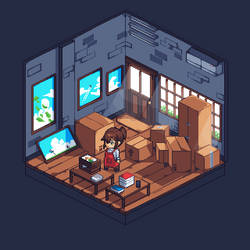 storage room ( isometric ) by bapakguntur