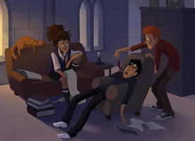 Harry Potter: All Nighter by TwiggyMcBones