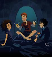 Harry Potter: Pajama Party by TwiggyMcBones