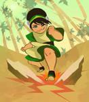 Earthbender Toph by TwiggyMcBones