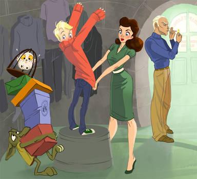 Commission: The Malfoy's Shop by TwiggyMcBones