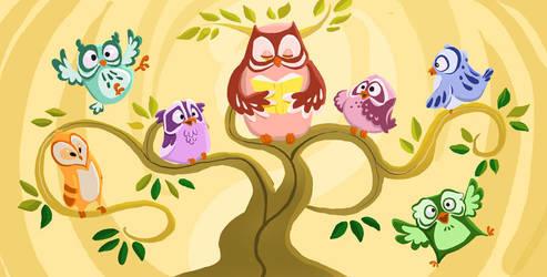 Owl Mural by TwiggyMcBones